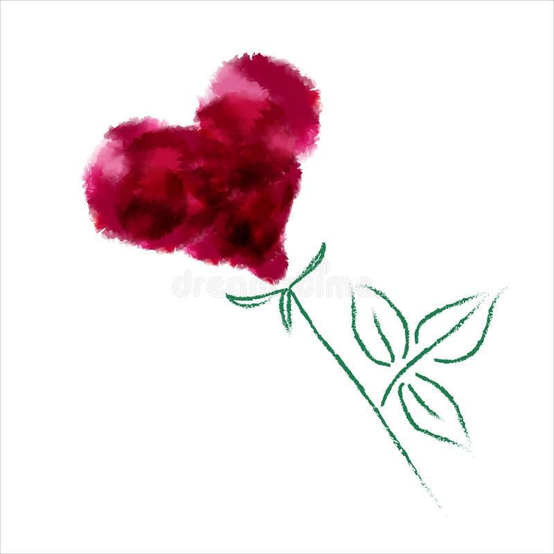 Rose-like heart vector illustration