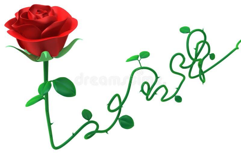 Rose Long Stem royalty free illustration