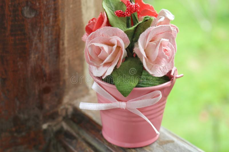Rose of love. Rose with beautiful light for valentine background royalty free stock image