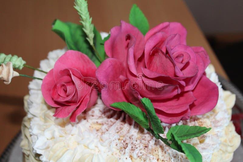 Rose made of sugar stock photos