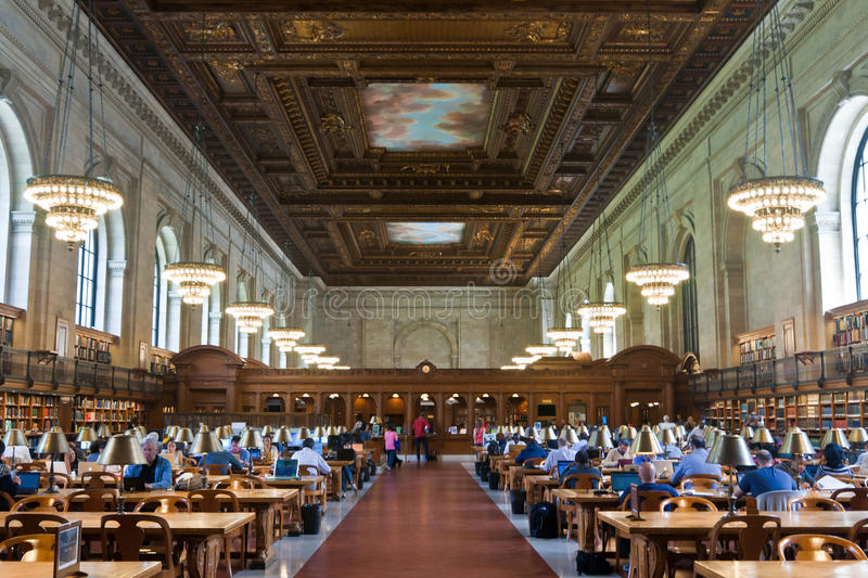 Rose Main Reading Room And Ceiling In New York Public