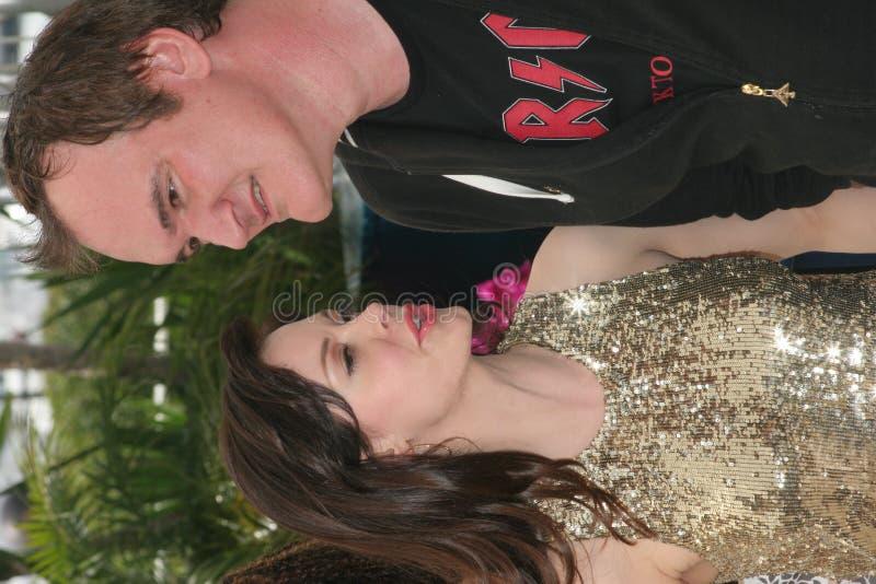Rose McGowan und Quentin Tarantino lizenzfreie stockfotos