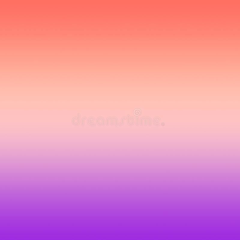 Rose millénaire Coral Violet Gradient Ombre Background illustration stock