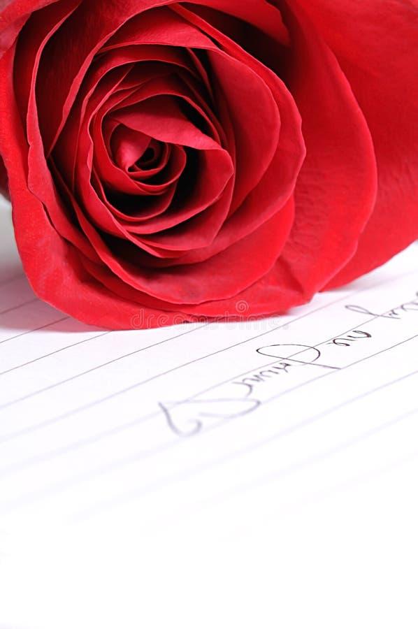 Rose mit Liebe lizenzfreies stockfoto