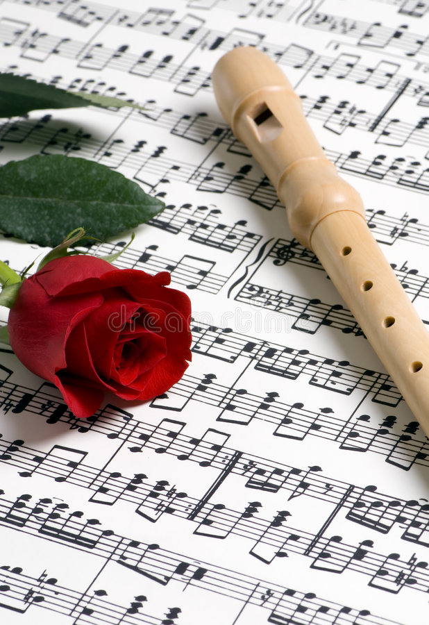 Rose Music 1 stock images