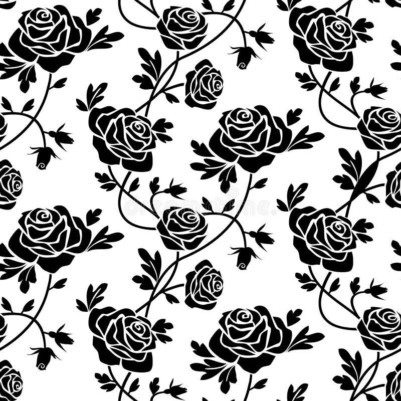 Rose nere a bianco illustrazione vettoriale
