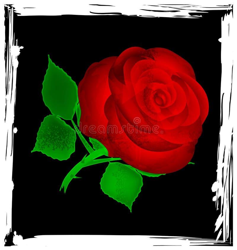 Rose noire et rouge abstraite illustration de vecteur