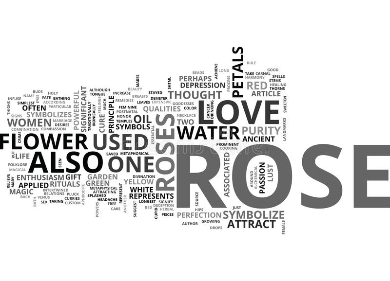 Rose Is Not Just Rose Word Cloud vektor abbildung