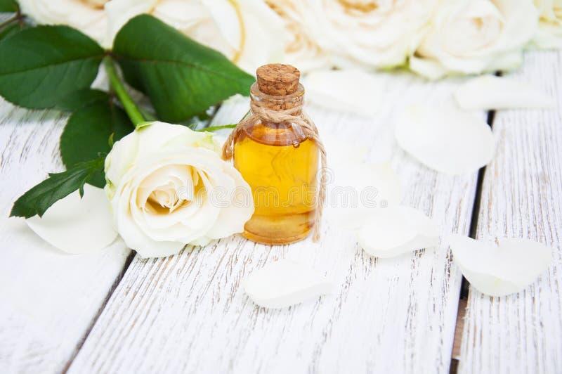 Rose Oil royalty-vrije stock afbeelding