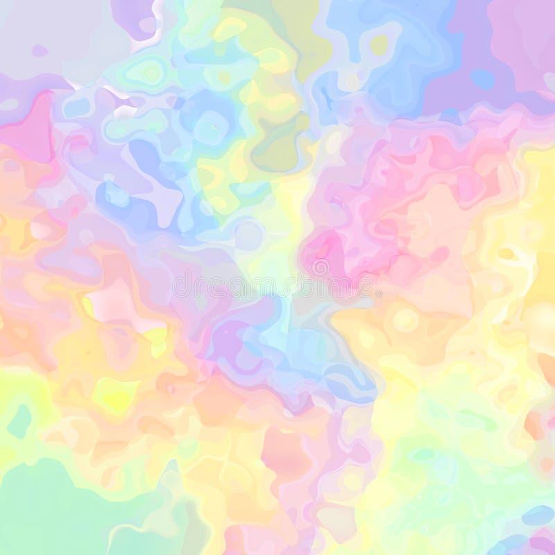 Rose olographe souillé de spectre polychrome de fond de texture de modèle, jaune, orange, bleu, vert, pourpre - pai moderne illustration libre de droits