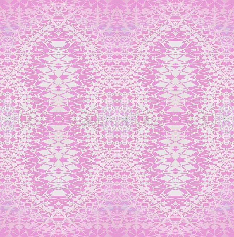 Rose ornemental fleuri sans couture de modèle et violet régulier, brillant et sensible illustration stock