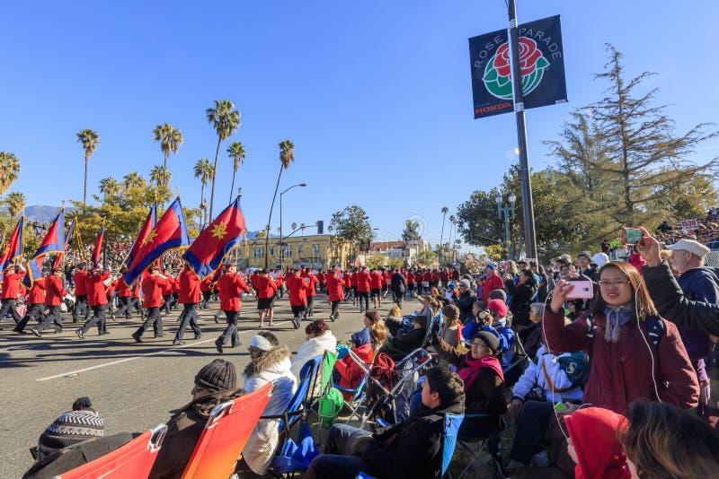 Rose Parade in Pasadena, Californië, de V.S. - 1 Januari, 2016 royalty-vrije stock afbeelding
