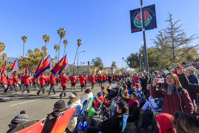 Rose Parade a Pasadena, California, U.S.A. - 1° gennaio 2016 immagine stock libera da diritti