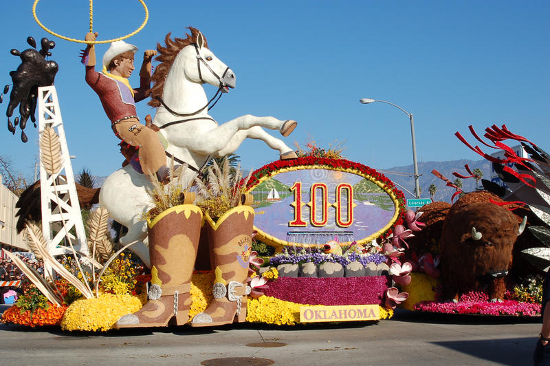 Download Rose Parade Pasadena Oklahoma Cowboy Float Editorial Photo - Image: 16243921