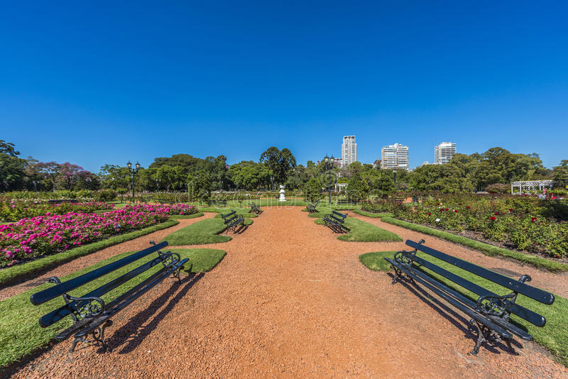 Rose Park on Palermo Woods in Buenos Aires. Rose Park on Parque Tres de Febrero, also known as the Bosques de Palermo (Palermo Woods), a 400 hectares urban park royalty free stock photos