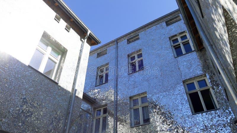 Rose Passage, mosaic glass building at Piotrkowska Street, City of Lodz, Poland. City of Lodz, Poland,Rose Passage, mosaic glass building at Piotrkowska Street royalty free stock images
