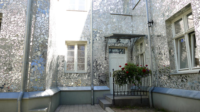 Rose Passage, mosaic glass building at Piotrkowska Street, City of Lodz, Poland. City of Lodz, Poland,Rose Passage, mosaic glass building at Piotrkowska Street royalty free stock photos