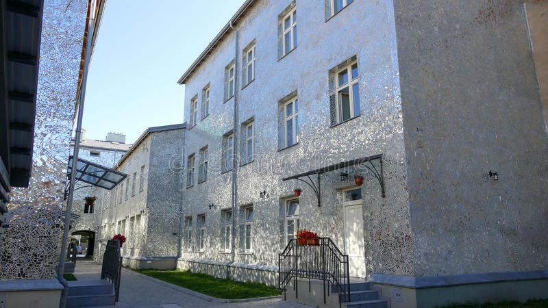 Rose Passage, mosaic glass building at Piotrkowska Street, City of Lodz, Poland. City of Lodz, Poland,Rose Passage, mosaic glass building at Piotrkowska Street stock photo