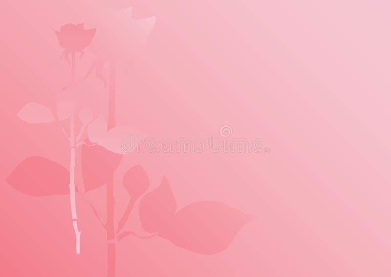 rose pastelu tło royalty ilustracja