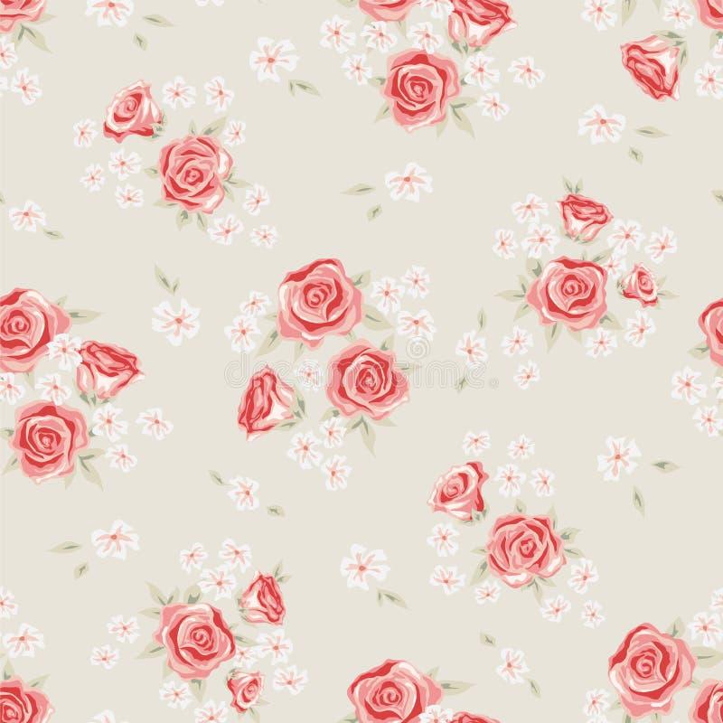 Rose pattern 2 royalty free illustration