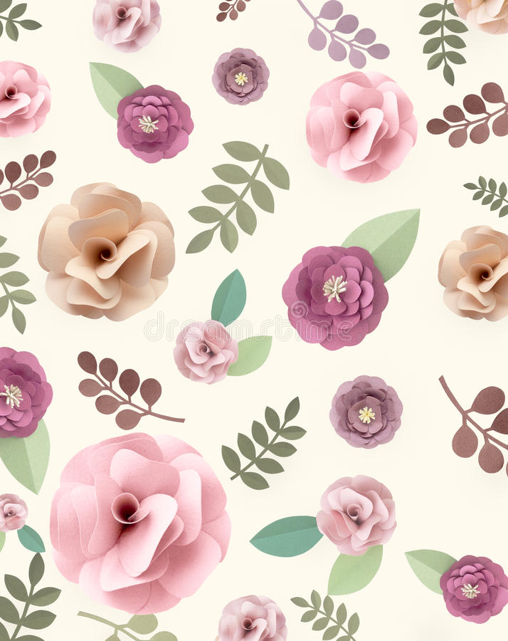 Rose Pattern Floral Texture Concept stock images