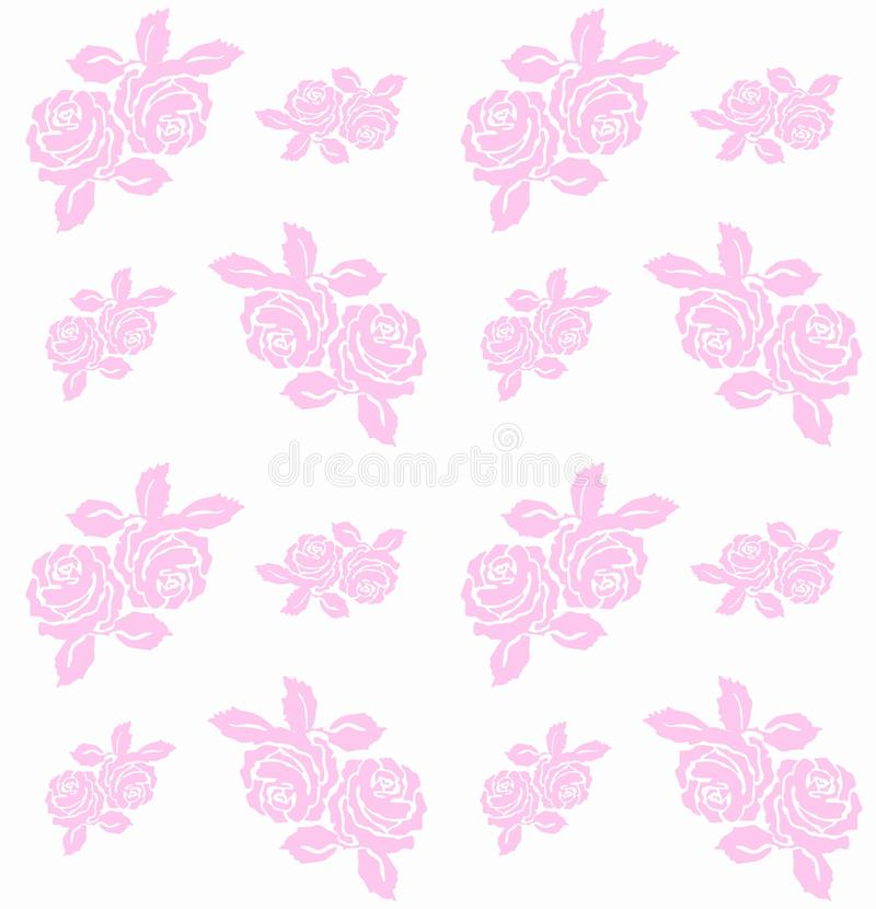 Download Rose pattern seamless stock vector. Image of cartoons - 14867464