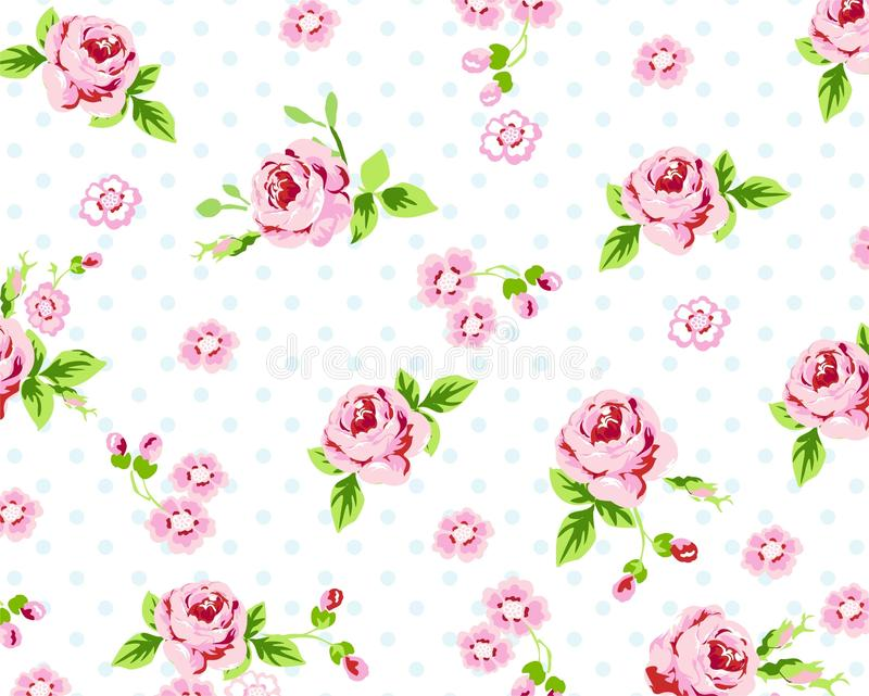 Download Spring Rose Pattern stock vector. Image of decor, retro - 33150855