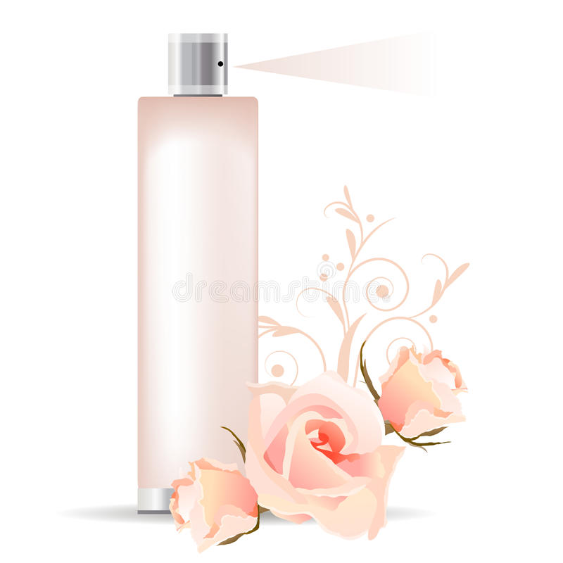Rose perfume royalty free illustration