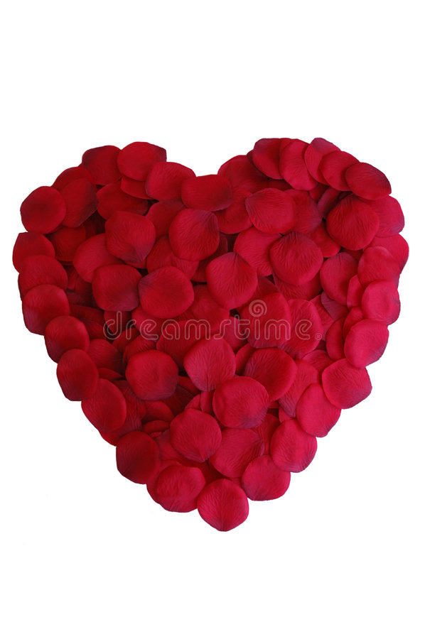 Rose Petal Heart royalty free stock photography