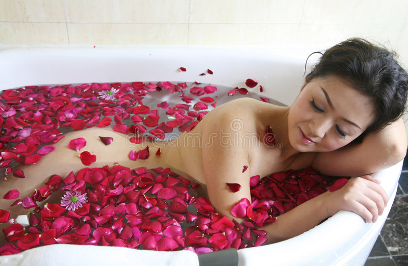 Rose petal spa royalty free stock image