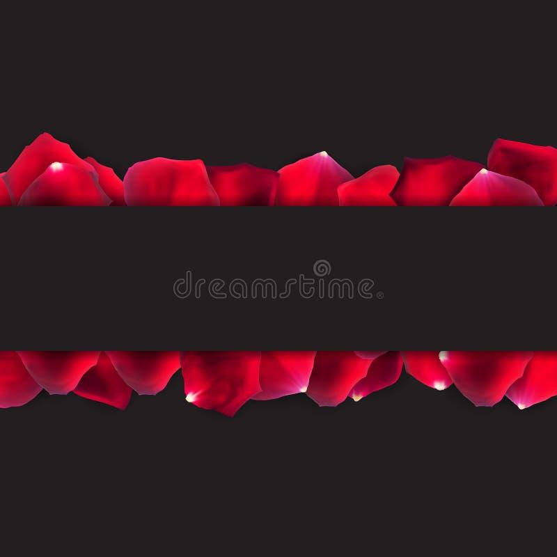 Rose Petals Background Realistic Vetora natural abstrata Illustr ilustração stock