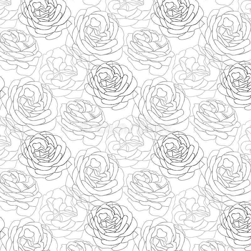 Rose petals outlined pattern . Rose petals outlined  pattern . Usable for different purposes stock photo