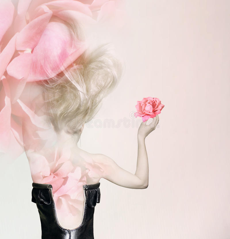 Download In rose petals stock image. Image of caucasian, pink - 36625941