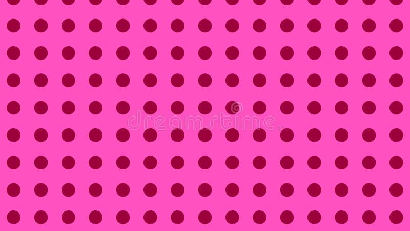Rose Pink Geometric Circle Pattern Background Vector 向量例证