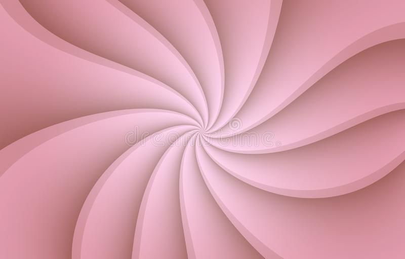 Rose pink and  white spinning spiral  curves abstract wallpaper background illustration. royalty free illustration