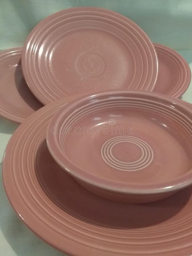 Rose Plates royalty-vrije stock foto's