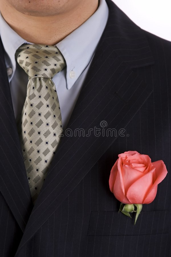 Rose In The Pocket Royalty Free Stock Photography
