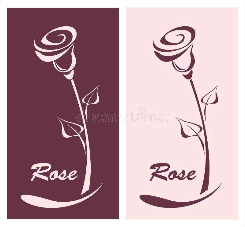 Rose pour le logotype carte postale de quelque chose ou de type illustration libre de droits