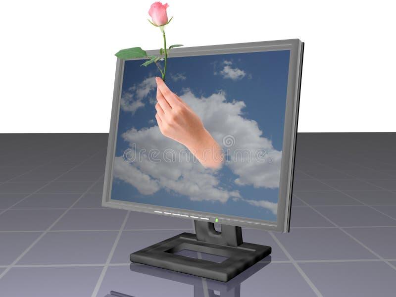 ROSE POUR VOUS? illustration de vecteur