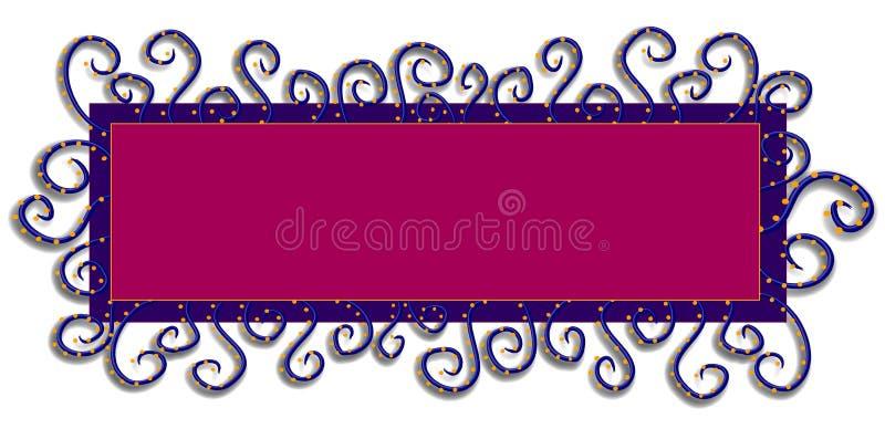 Rose pourpré de logo de page Web illustration stock