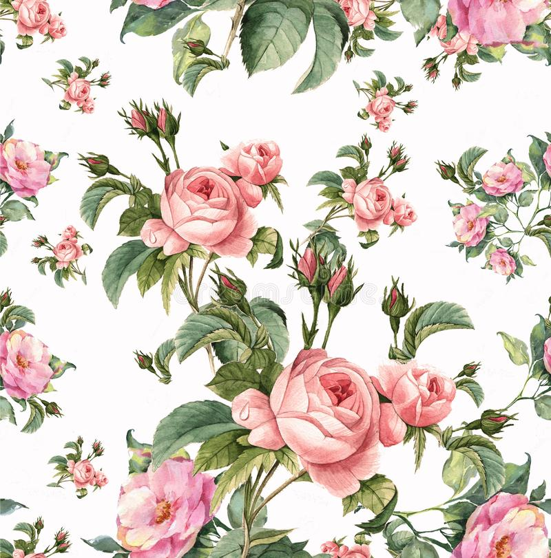 Rose print vector illustration