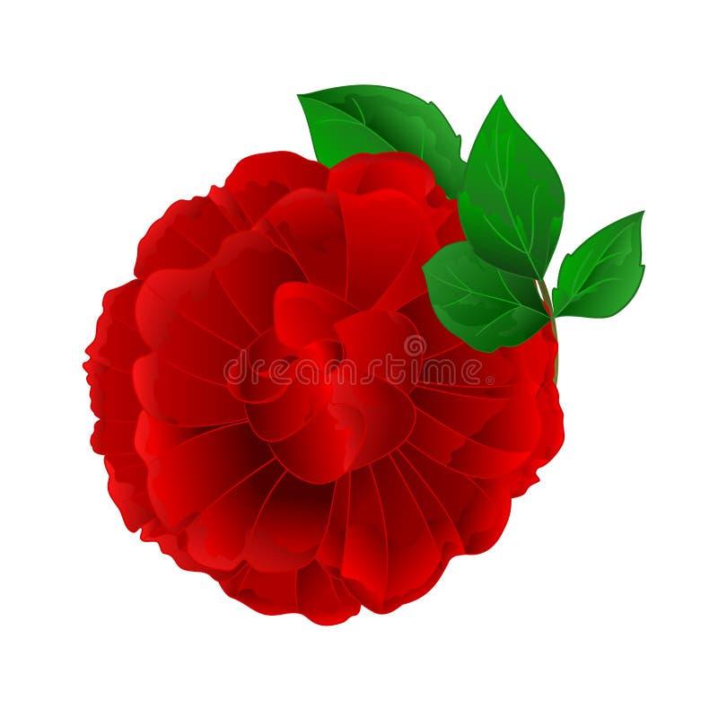 Rose Purple-bloem en bladeren uitstekende editable vectorillustratie royalty-vrije illustratie