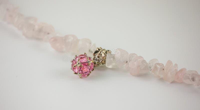 Rose Quartz-armband royalty-vrije stock fotografie