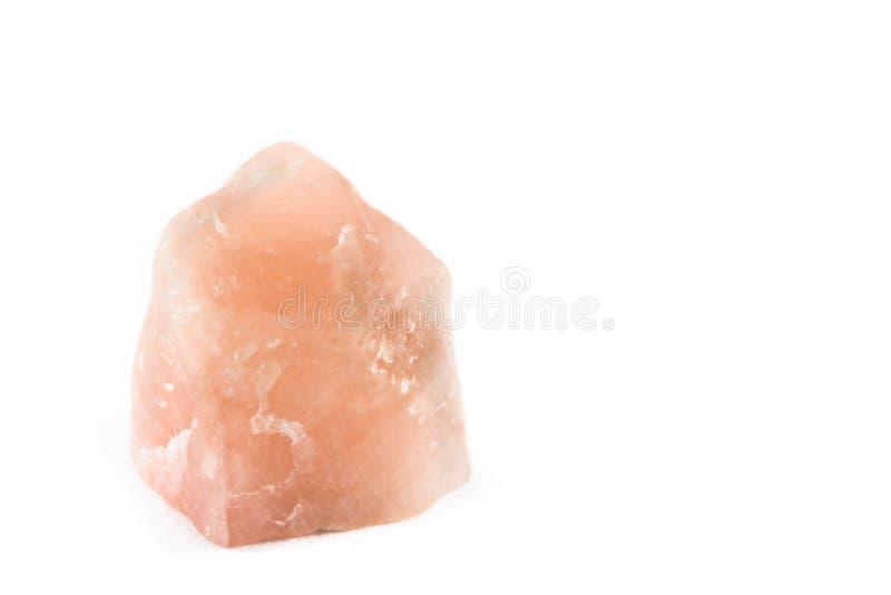 Rose Quartz Crystal non coupée image stock