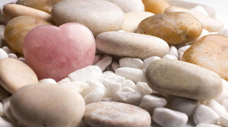 Rose quartz heart. royalty free stock image