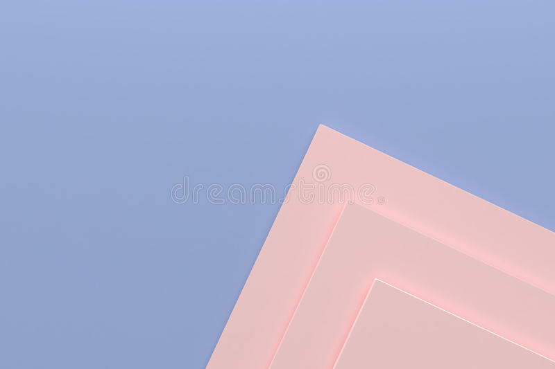 Rose quartz and serenity blue background minimal design paper st stock photography
