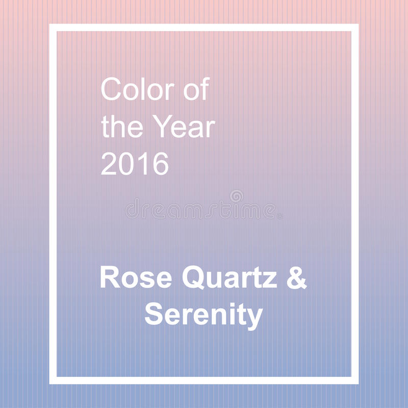 Rose Quartz and Serenity - trendy fashion color of. The year 2016. Abstract vector background with frame stock illustration