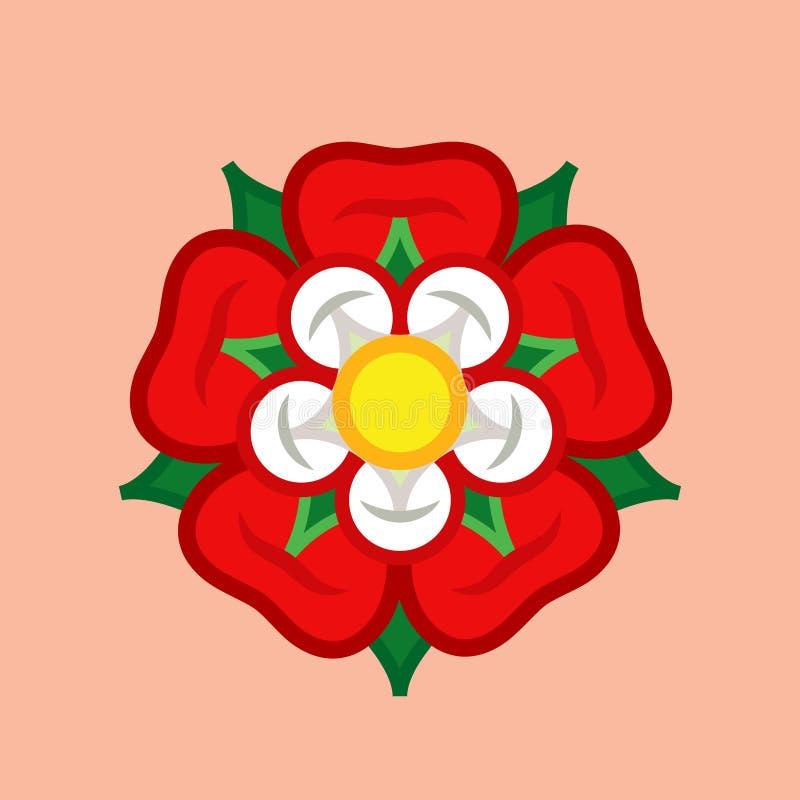Rose Queen de flores: emblema del amor, de la belleza y de la perfección stock de ilustración