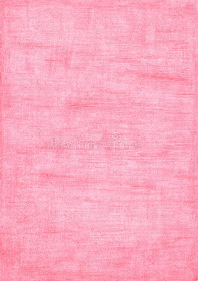Rose red rectangle sheet of paper colored with pencil stock photography