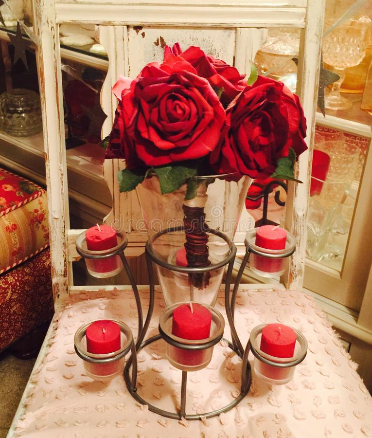 Rose Riches rouge photos stock
